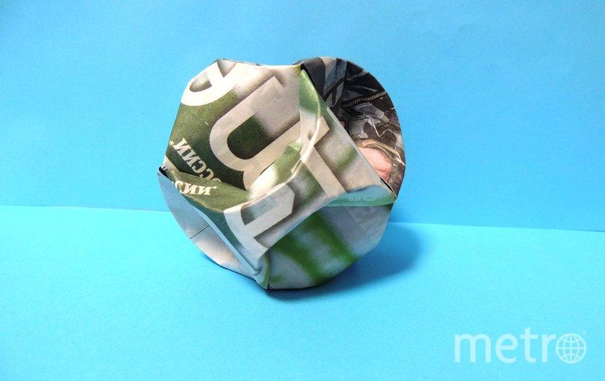 """Мамаева Злата решила сделать ёлочную игрушку в виде шара. Фото Злата, """"Metro"""""""