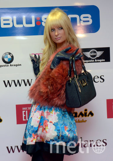 Пэрис Хилтон на вечеринке Paris Hilton Racing Team 4 ноября 2011 года в Сарагосе, Испания. Фото Getty