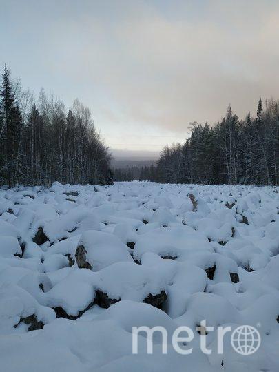 """Когда-то давно вместо реки из булыжников была гора, но со временем она рассыпалась и """"разлилась"""" на шесть километров. Зимой камни похожи на присыпанные снегом пельмени. Фото Ольга Кабанова, """"Metro"""""""