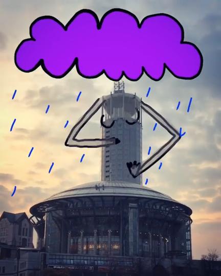 Денис Всесвятский превращает здания в персонажей коротких и трогательных мультфильмов. Фото скриншот Instagram @phatpapa