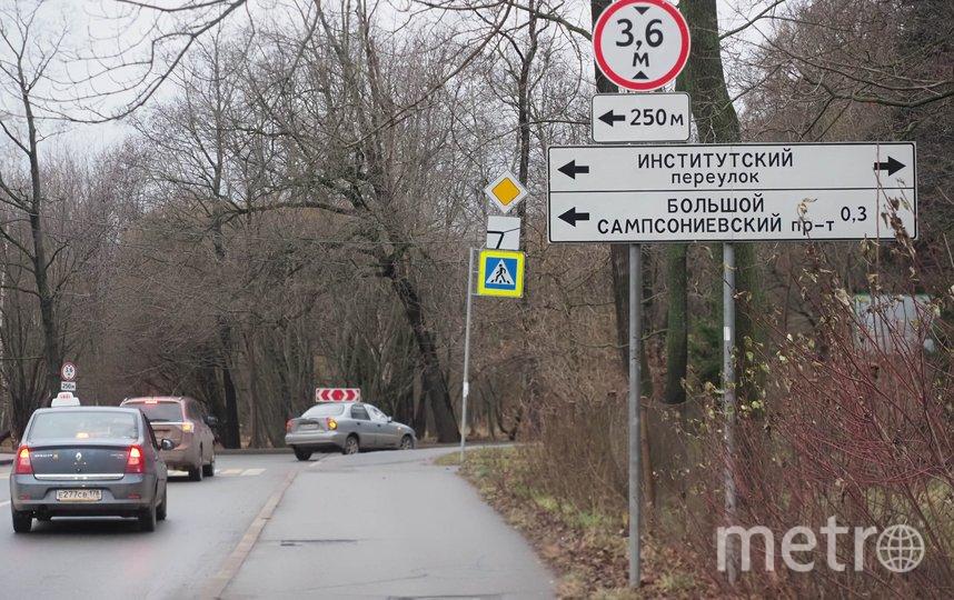 """На дороге есть «лежачий полицейский», но ни одного пешеходного перехода. Фото Святослав Акимов, """"Metro"""""""