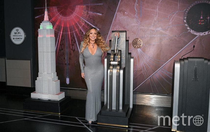 "Мэрайя Кэрри ""зажгла"" Empire State Building. Фото Getty"