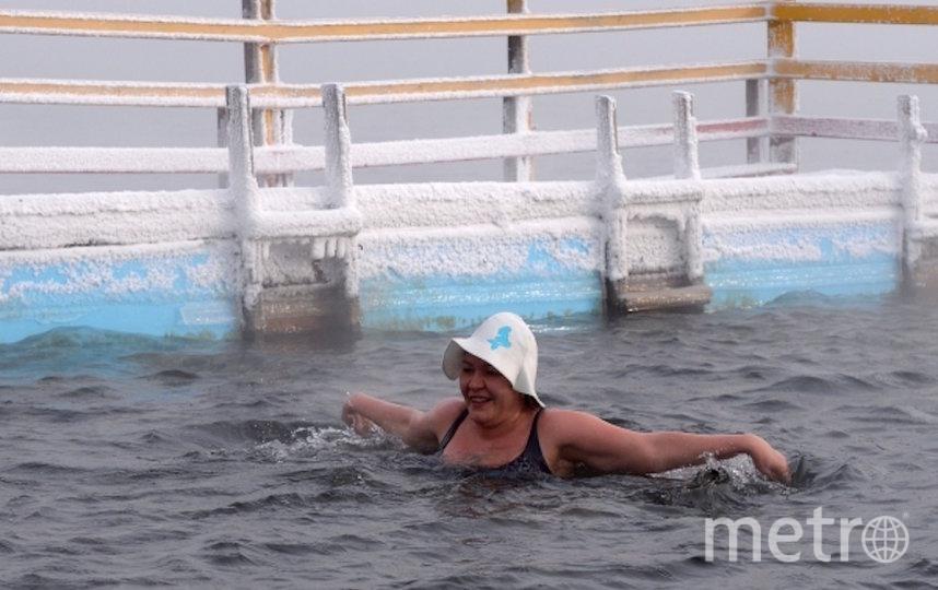 В парках оборудованы удобные спуски в воду и тёплые раздевалки. Фото РИА Новости