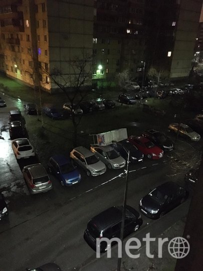 А на Ленинский проспект принесло сани Деда Мороза. Фото vk.com