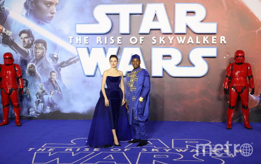 """Европейская премьера """"Звездных войн"""" в Лондоне. Дейзи Ридли и Джон Бойега. Фото Getty"""