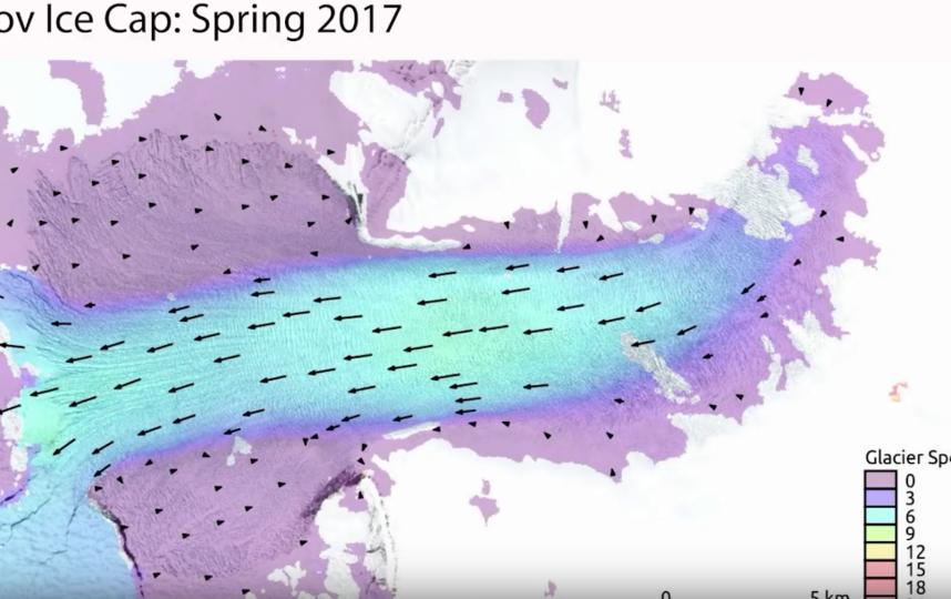 Миграция ледяных масс в море в период с 2015 по 2018 год. Фото скриншот: youtube.com/watch?v=WPfVUHFpRhk