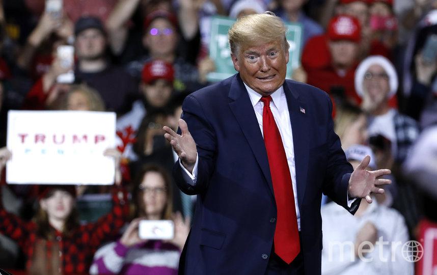 Дональд Трамп стал третьим в истории США президентом, подвергшимся импичменту. Фото AFP