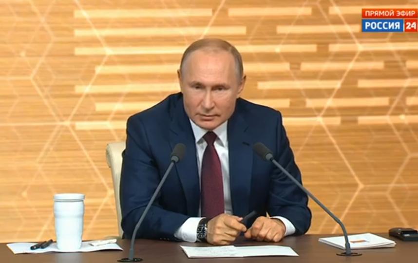 Пресс-конференция Путина. Фото Скриншот Youtube