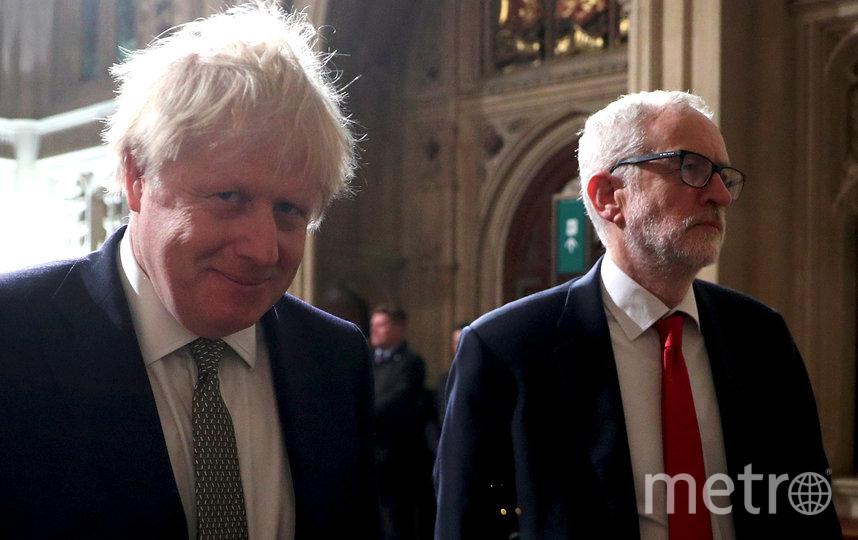 Борис Джонсон и Джереми Корбин. Фото AFP