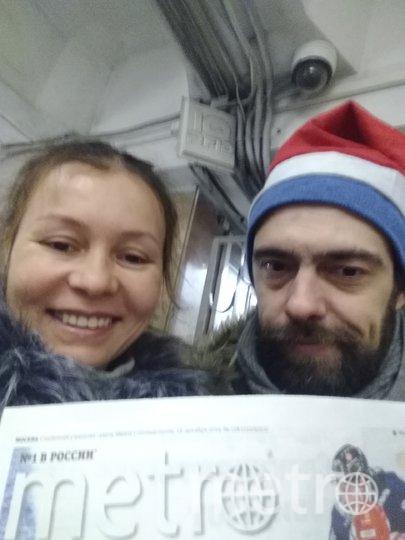 """""""Давайте все вместе загадаем благие желание, и чтоб у распространителя Metro Алексея со станции Щукино был подарок и ему будет весело и приятно!!! А я загадала желание!!! Спасибо Вам за идею,это бодрит и придает сил для осуществления желания!!! Всех С НАСТУПАЮЩИМ!!!"""" Фото Магдиева Фануза"""