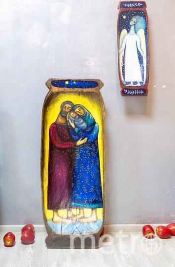 """Часть экспонатов в свободное от выставок время живёт в квартире художника Надежды и её мужа Ивана. Фото Алена Бобрович, """"Metro"""""""