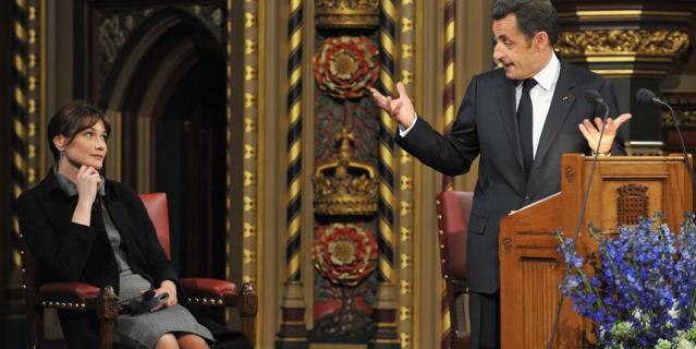 Карла Бруни и Николя Саркози.