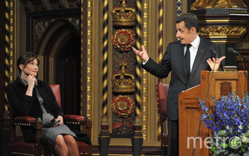 Карла Бруни и Николя Саркози. Фото Getty