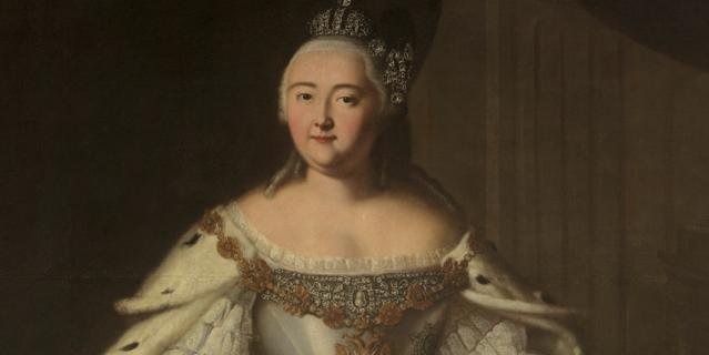 Портрет Елизаветы Петровны. Художник Иван Вишняков (1743).