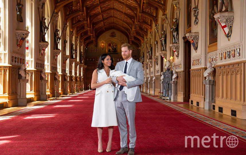 Меган Маркл и принц Гарри показали малыша сразу после рождения. Фото Getty