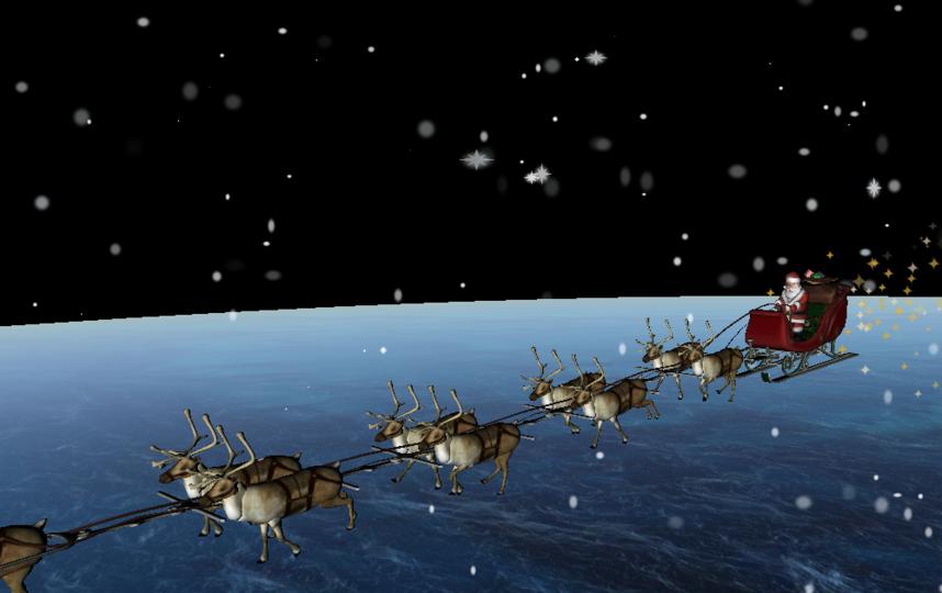 Санта-Клаус отправился в путь. Фото скриншот https://www.noradsanta.org/