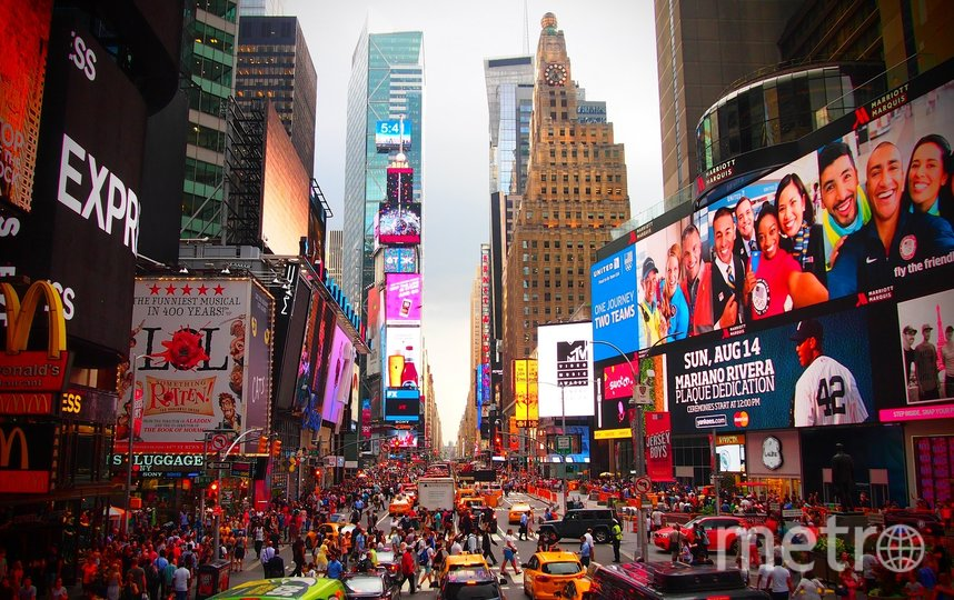Таймс-сквер, Нью-Йорк. Фото pixabay.com