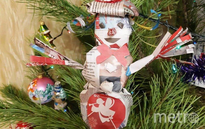 """Этот снеговичок – ещё одна работа от нашей постоянной читательницы Ольги Потёмкиной. Фото Ольга, """"Metro"""""""