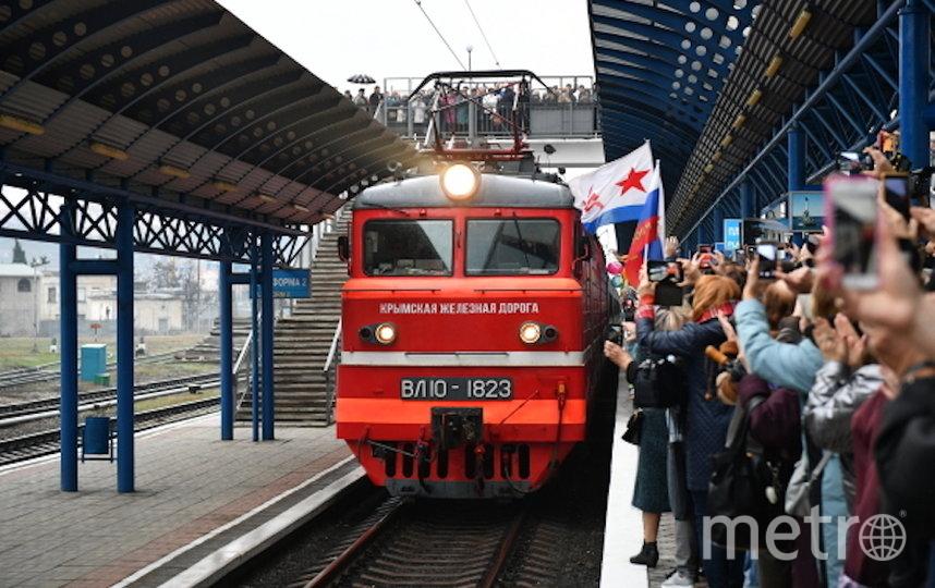 23 декабря президент России Владимир Путин торжественно открыл железнодорожное движение по Крымскому мосту. Фото РИА Новости