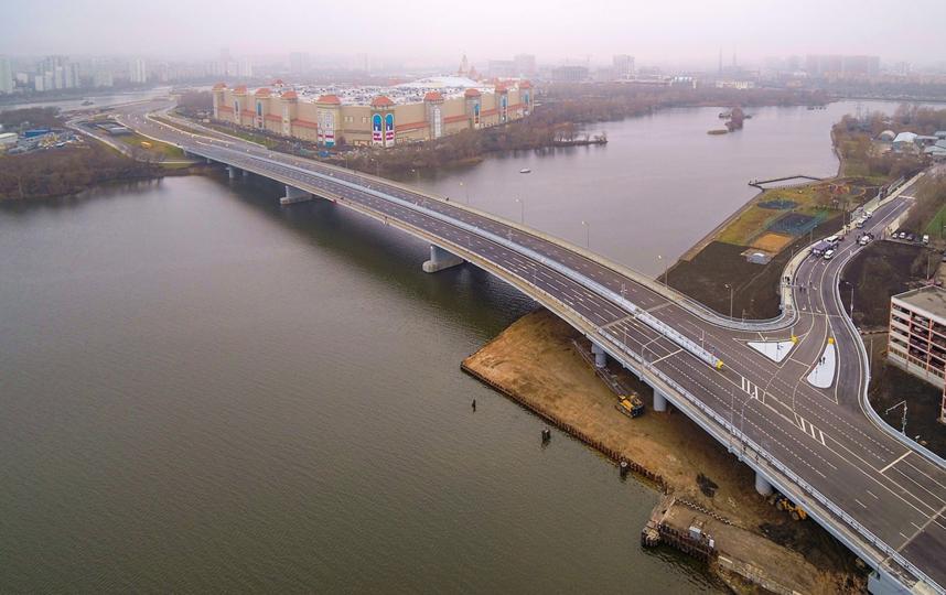 В Москве открыли автомобильный мост через Кожуховский затон. Фото пресс-служба мэра и правительства Москвы