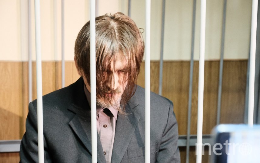 "Андрей Бовт в зале суда. Фото ""Metro"""