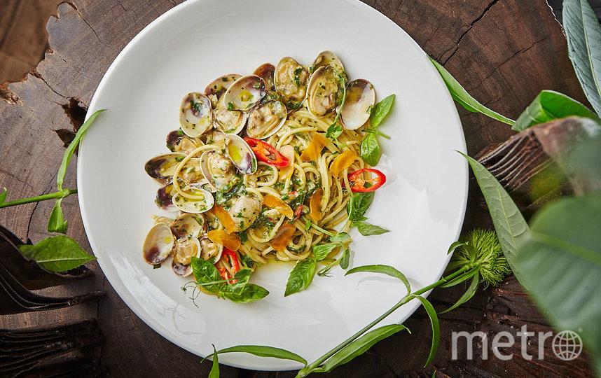 Спагетти с вонголе от ресторана Sixty. Фото предоставлено ресторанами