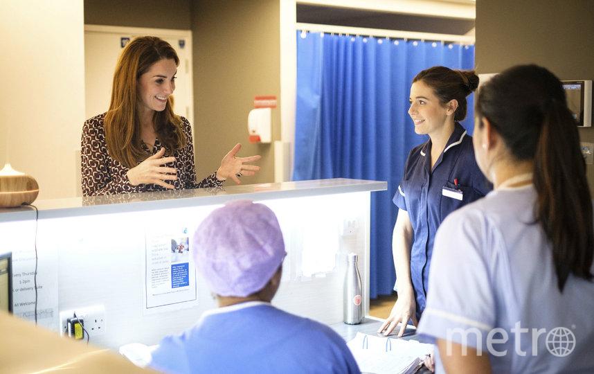 Кейт Миддлтон в родильном отделении Кингстонской больницы в Лондоне. Фото AFP