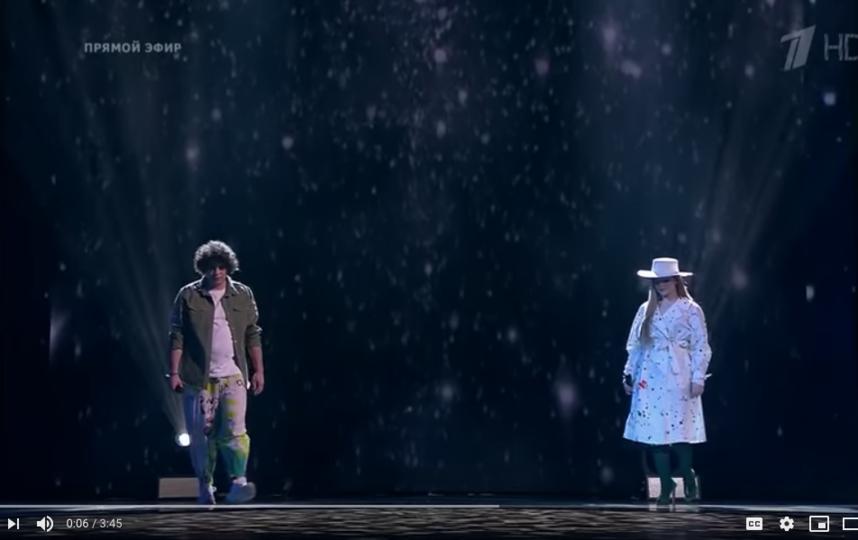 """Антон Токарев и Рагда Ханиева. Фото скриншот с официальной страницы шоу """"Голос"""" на YouTube"""