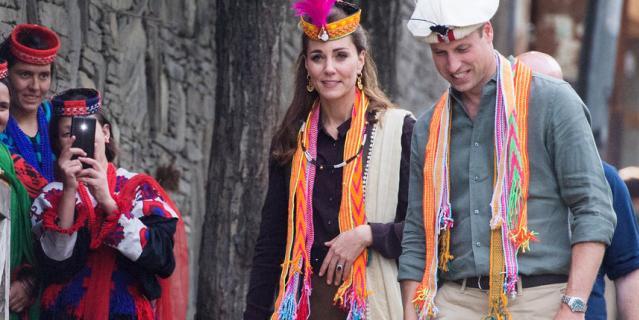 Кейт Миддлтон и принц Уильям в Пакистане.