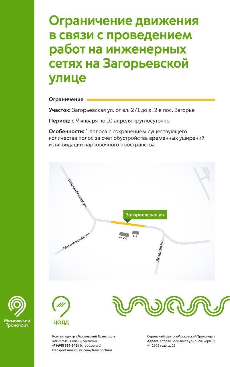 В районе Бирюлево Восточное ограничат движение транспорта с 9 января. Фото www.mos.ru