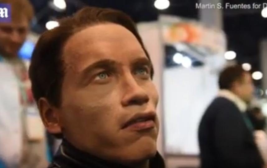 Российский робот на выставке в Лас-Вегасе. Фото Скриншот Youtube