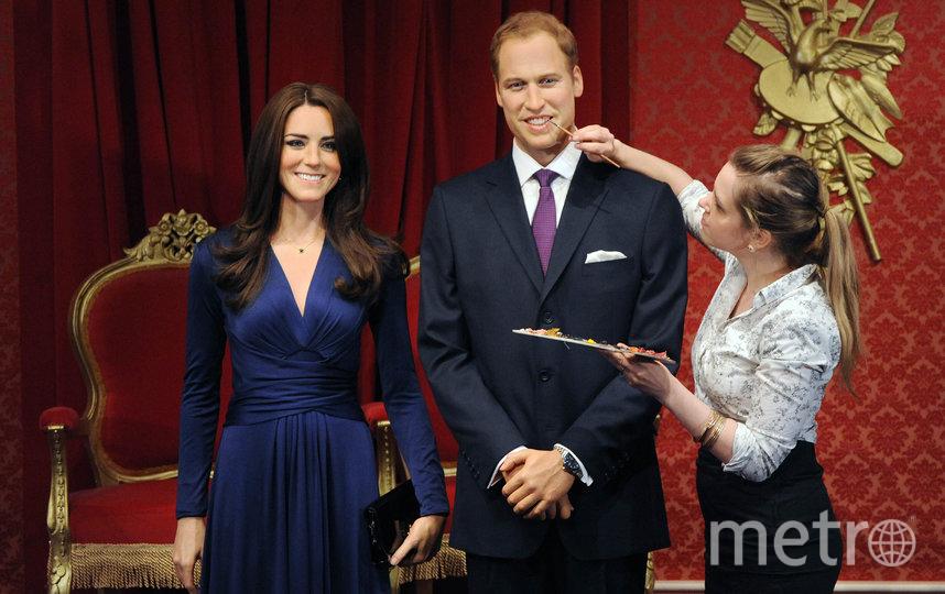 восковые фигуры Кейт Миддлтон и принца Уильяма в музее. Фото Getty