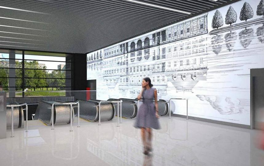 """Станция """"Лефортово"""", проектное решение. Фото www.mos.ru, """"Metro"""""""