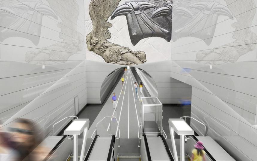 """Станция """"Авиамоторная"""", проектное решение. Фото www.mos.ru, """"Metro"""""""