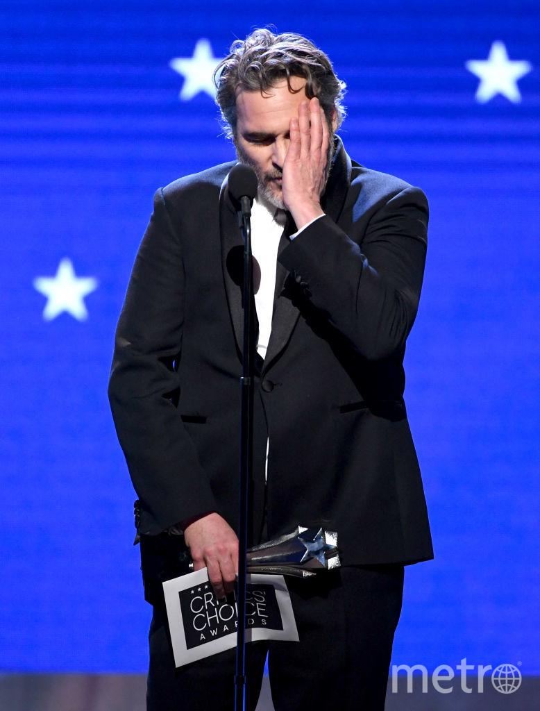 Critics' Choice Awards-2020. Хоакин Феникс. Фото Getty