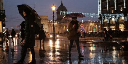 Зима в Петербурге больше похожа на весну: фото дождливого города