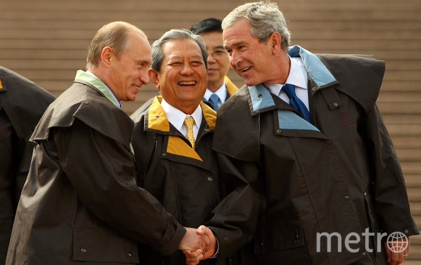 Владимир Путин и Джордж Буш. Фото Getty