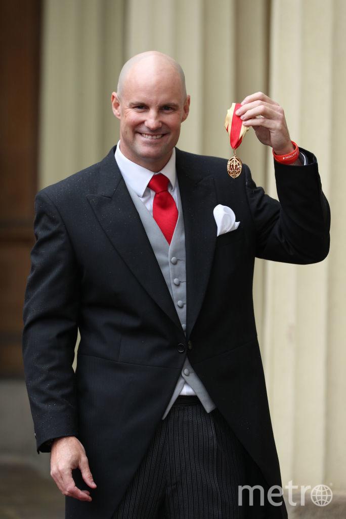 Эндрю Штраус был отмечен за заслуги в области спорта. Фото Getty