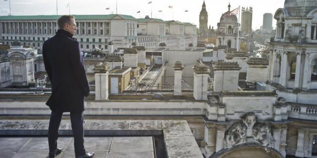 "Кадр из фильма ""007: Координаты ""Скайфолл"" (2012)."