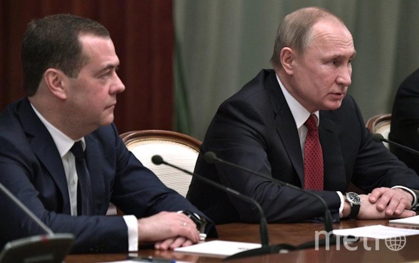 Медведев и Путин. Фото РИА Новости