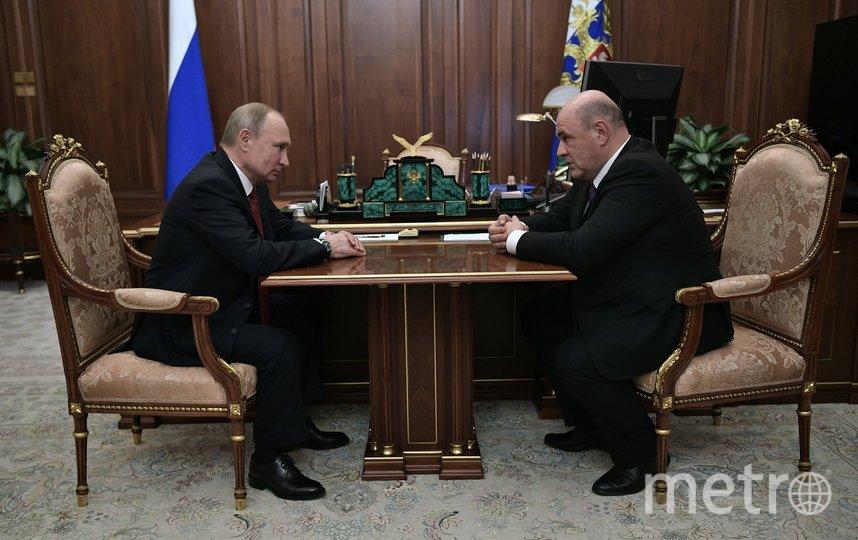 Владимир Путин и Михаил Мишустин. Фото AFP