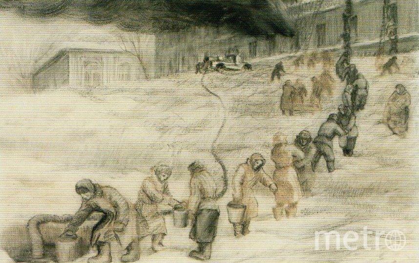 А.Мордвинова. Пожар одного из корпусов Военно-медицинской академии зимой 1941-1942. Фото ГМИСПб, Предоставлено организаторами