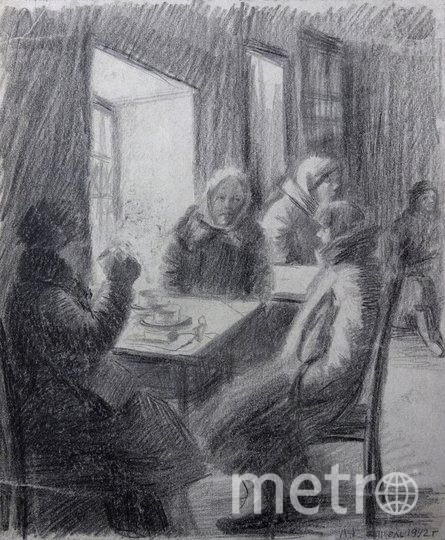 Мордвинова. Первая чайная на ул. Белинского. 1942. Фото ГМИСПб, Предоставлено организаторами