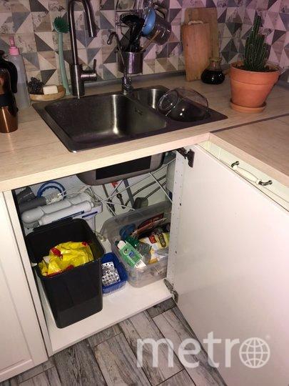 У Анастасии на кухне три ёмкости: для смешанного мусора, опасных отходов и вторсырья. Фото Анастасия Базарнова