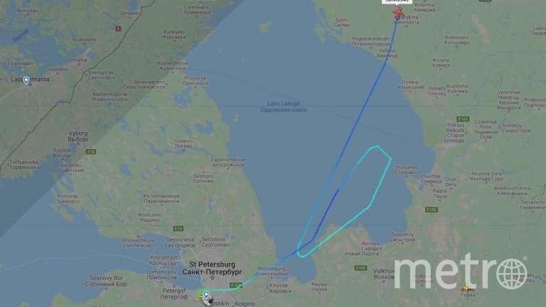 Такой маневр выполнил самолет, выполнявший рейс SU6343. Фото Flightradar, Скриншот Youtube