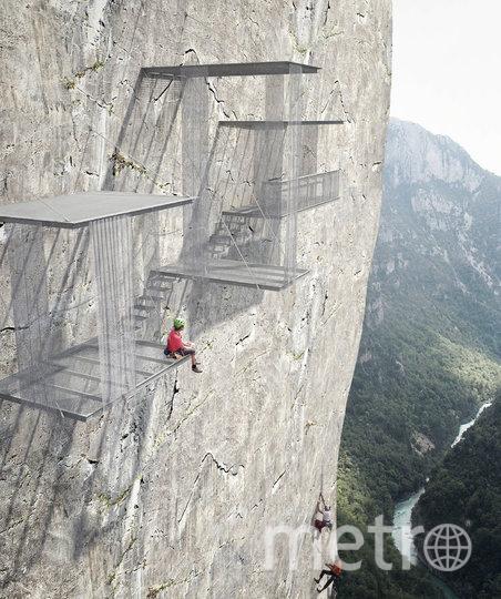 """У альпинистов могут появиться свои """"дома отдыха"""". Фото CHRISTOPHE BENICHOU ARCHITECTURE"""