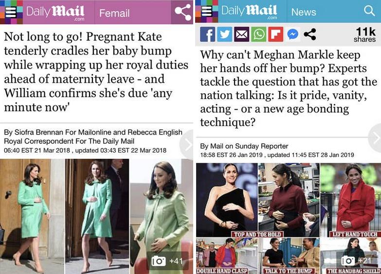 Простой жест может быть как проигнорирован, так и подвегнут критике. Фото скриншот Buzzfeed | Daily Mail 2018, Daily Mail 2019