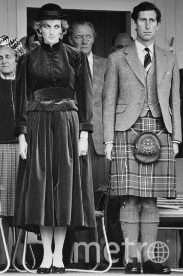 Диана и Чарльз на официальном мероприятии в Шотландии, 1983 год. Фото Getty