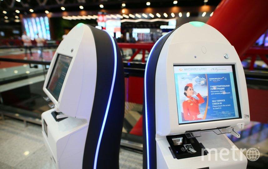 Стойки регистрации в новом терминале. Фото Василий Кузьмичёнок