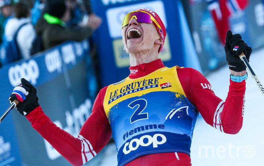 После победы Большунов укрепил лидерство в общем зачёте. Фото Getty